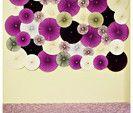 Paper Wheel Fan Flowers Background / Backdrop for Weddings, Accordion Flowers, Pin Wheels, Bridal Shower | Marketplace | 100 Layer Cake