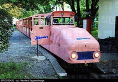 Old pink diesel locomotive with Manner wafers logo, Prater, Vienna, Austria, Europe Pink Love, Pretty In Pink, Pink And Green, Rose Fushia, My Favorite Color, My Favorite Things, Rose Bonbon, Fb Like, Pink Cadillac