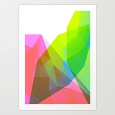 Neon Landscape 03. Art Print by Three Of The Possessed