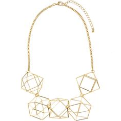 Accessorize Lozzadron 3D Statement Necklace ($29) ❤ liked on Polyvore featuring jewelry, necklaces, geometric necklace, accessorize jewellery, bib statement necklace, geometric jewelry and statement necklace