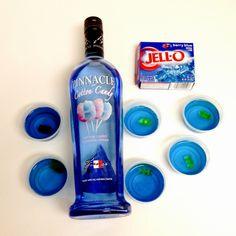 Cotton Candy Jell-O Shots; Orange Creamesicle Jell-O Shots; Strawberry-Banana Smoothie Jell-O Shots; make fun shots that taste good not straight alcohol...
