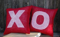 Hugs & Kisses Pillow, Valentines Day Gift, Rustic Valentine Decor,Valentine Pillow,Valentines Day Decor,Valentines Decoration,X and O Pillow