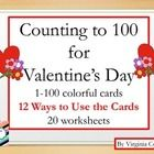 This packet includes number cards 1-100 with Valentine's Day graphics.  I have inlcuded a list of 12 ways to use the cards in your classroom.  Ther...