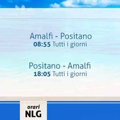 Salve a tutti! Oggi rimaniamo sulla linea Salerno - Capri ricordando la sua tratta Amalfi - Positano che tutti i giorni garantisce le corse verso l´isola. Per maggiori info, servizi ed acquisto biglietti on-line vi rimandiamo al nostro sito http://www.navlib.it/ita/index.asp