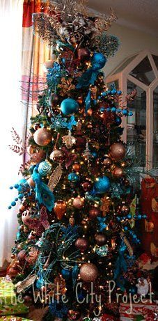 My turquoise, copper, and brown tree.