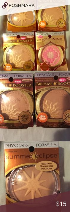 Bronzer Physicians formula bronzer 4 really works good have to many all new nwt $18-$20 new asking $15 for EACH if you want all I'll do for $40 Physicians Formula Makeup Bronzer