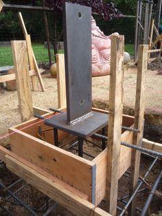 Laws Solar Arbor in 2020 Steel Frame House, A Frame House, Steel House, Building Foundation, House Foundation, Steel Structure Buildings, Timber Structure, Timber Architecture, Architecture Details