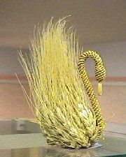 Wheat Weaving-Swan: Courtyard Gallery Kansas Art