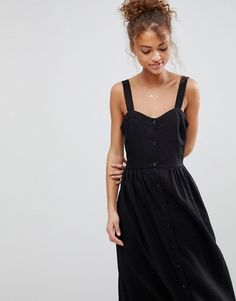 ASOS | ASOS Linen Button Through Maxi Dress