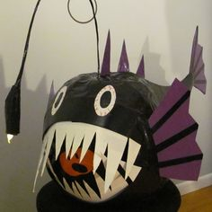 "Stick or Treat 2011 entry ""Deep Sea Angler Fish"" #ducktape #halloween"