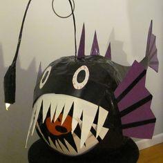 "Stick or Treat 2011 entry ""Deep Sea Angler Fish"" #ducktape #halloween"