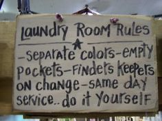 Great laundry room rules