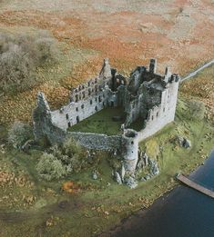A birds eye view of Kilchurn Castle, Scotland. Built in the it served as a base for the Campbell's of Glenorchy for 150 years. After the first Jacobite Rising of Kilchurn was converted into a garrison stronghold and eventually abandoned by the Abandoned Castles, Abandoned Mansions, Abandoned Houses, Abandoned Places, Chateau Medieval, Medieval Castle, Scotland Castles, Scottish Castles, Beautiful Castles