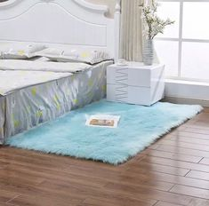 Rectangle Animal Free Soft Faux Sheepskin Fur Area Rugs for Bedroom Floor Shaggy Silky Plush Carpet White Faux Fur Rug Bedside Rugs Material - Soft Faux Sheepskin Color - Baby Pink, Black, Blue, Brown and Grey Size - Approx. Living Room Carpet, Rugs, Bedroom Carpet, Rugs On Carpet, Rugs In Living Room, Soft Rug, Bedroom Flooring, Faux Sheepskin Rug, Faux Fur Rug