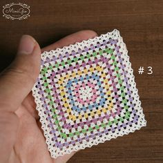 1:12 Dollhouse miniature baby crochet blanket in cream and