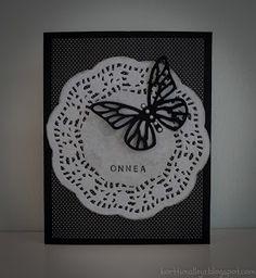 Kortteja ja vähän muuta: Tumma perhoskortti
