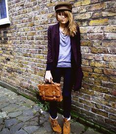 H Blazer, Primark Bag, Primark Boots, H Jeans, Camden Market Hat