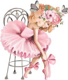 Ballerina Art, Ballet Art, Little Ballerina, Girly Drawings, Cute Animal Drawings, Art Drawings Sketches, Beautiful Dolls, Beautiful Images, Princess Cake Toppers