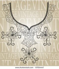 stock vector : Vintage embroidery design