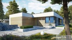 EX 21 soft - projekt domu - Archipelag House Layout Plans, House Layouts, Residential Building Plan, L Shaped House Plans, Steel Framing, Modern Small House Design, Mexico House, Model House Plan, Bungalow House Design