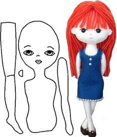 Pocket Doll Pattern by Approximate 7 in Handmade Felt Doll… Doll Crafts, Diy Doll, Fabric Dolls, Paper Dolls, Felt Dolls, Baby Dolls, Sewing Patterns For Kids, Felt Doll Patterns, Sewing Dolls