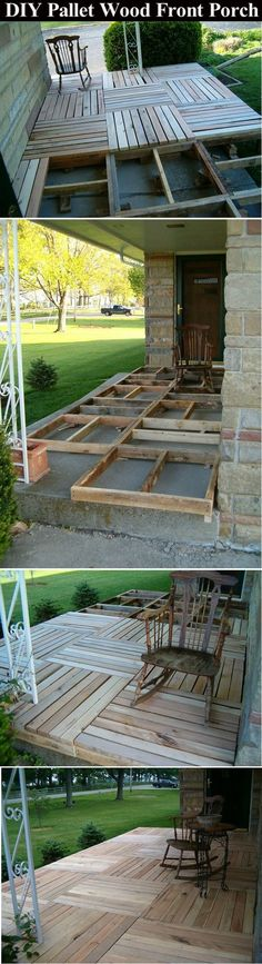 DIY Pallet Wood Front Porch Pictures, Photos, and Images for Facebook, Tumblr, Pinterest, and Twitter