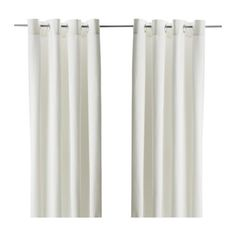 MERETE Pair of curtains - bleached - IKEA