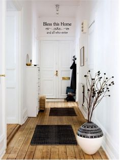 Bless This Home and All Who Enter Vinyl Decal - Bless This Home Wall Decal Quote, Home Entryway Decal, Wall Lettering, Home Wall Art, 17x7 by TheVinylCompany on Etsy https://www.etsy.com/listing/127787742/bless-this-home-and-all-who-enter-vinyl