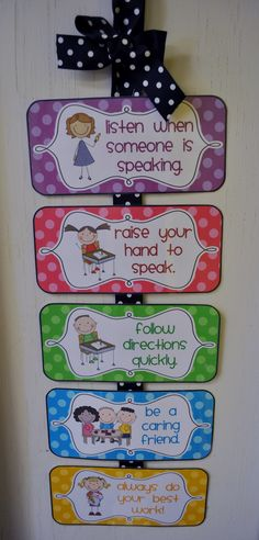 Mrs. Ricca's Kindergarten: Classroom Management {Freebies}. Pretty sure I want this for the house.