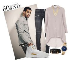 """60 Seconds Drake"" by lady-larry ❤ liked on Polyvore featuring Balmain, Michael Kors, Marco Bicego, men's fashion, menswear, DRAKE, views and 60secondstyle"