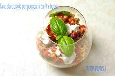 Farro alla crudaiola con pomodorini confit e burrata #cucinapardiso #farro #crudaiola #pomodorini #basilico #pomodoriniconfit #burrata #basil #tomatoes #light #veggie