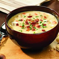 Hearty Potato and Cheddar Soup