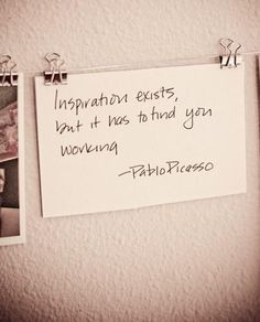 work for inspiration!