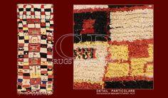 Cod:: 141334666558Provenienza: MAROCCOEtà: VECCHIONodi/dmq: 900 Lavorazione: ANNODATO A MANOOrdito: LANATrama: LANAVello: LANA I TAPPETI BENI OURAIN sono i più tradizionali e autentici tra le tante tipologie di tappeti berberi. Sono tappeti di vecchia manifattura annodati a mano secondo la tecnica del nodo berbero,