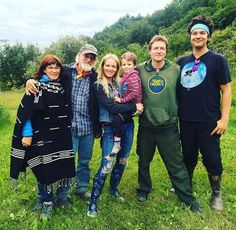 Jewell and son Kase with her family in Alaska, the Last Frontier!