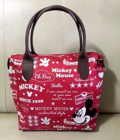 "Authentic Disney Mickey Mouse Handbags Clutch Shopping Tote Bag Fancy 10""x14"" #DisneyGiftlandThailand #TotesShoppers"