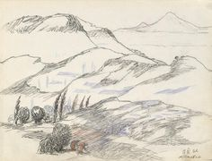 'Armenian Mountains', 1962 by Martiros Saryan (1880-1972, Russia)