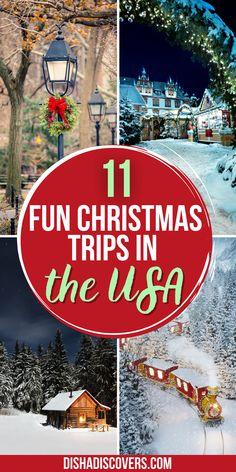 Best Christmas Vacations, Christmas Trips, Christmas Getaways, Christmas Destinations, Us Travel Destinations, Christmas Travel, Best Places To Travel, Christmas Stuff, Holiday Travel