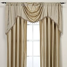 image of Argentina Shaped Valance with Beaded Trim