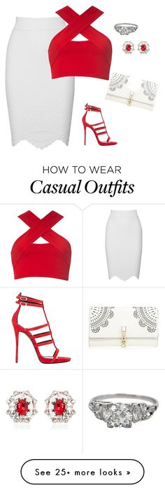 """""""casual party"""" by apvick on Polyvore featuring Giuseppe Zanotti, Alexander McQueen, Motel, Dsquared2 and Lipsy"""