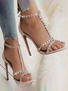 Damenschuhe, Stiefel, High Heels und Sandalen - Heel Company World Stilettos, Pumps Heels, Stiletto Heels, Studded Heels, Prom Shoes, Shoes 2018, Wedding Shoes, Lace Up Heels, Sexy Heels