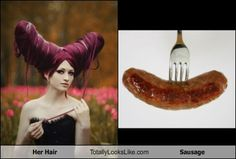 Her Hair Totally Looks Like a Sausage