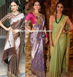 Banarasi sarees: a superb blend of ethnicity, traditions and just divine beauty! Banarasi Sarees, Sonam Kapoor, Red Wedding, Yellow, Blue, Ethnic, Sari, Traditional, Pink