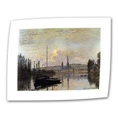 Dock by Claude Monet Painting Print on Canvas