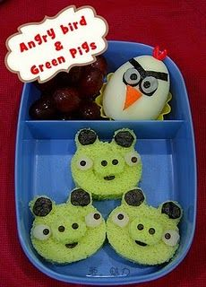 My son would love it if he opened his lunch box and saw this.