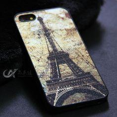 New 2014 Fashion Brand Eiffel Tower Phone Cases capa para capinha de celular For iphone 5 5s Phone Case Celulares Free shipping $3.98