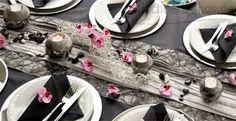 Bildergebnis für hochzeit tischdeko schwarz silber
