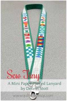 Paper-Pieced Lanyard