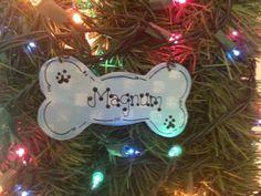 Items similar to Dog bone ornament pet decor Christmas holidays doggy personalized blue Xmas wood wooden on Etsy Dog Christmas Gifts, Christmas Ornament Crafts, Dog Ornaments, Holiday Crafts, Christmas Holidays, Xmas, Christmas Ideas, Animal Decor, Animal Crafts