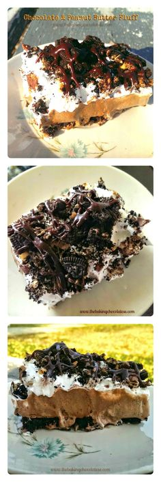 The Baking ChocolaTess | Heavenly Chocolate and Peanut Butter Fluff Dessert | http://www.thebakingchocolatess.com
